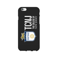 Centon The College of New Jersey Black Phone Case, Classic  iPhone 77S