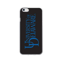 Centon University of Delaware Black Phone Case, Classic  iPhone 77S