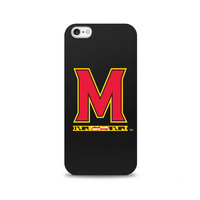 Centon University of Maryland Black Phone Case, Classic  iPhone 77S