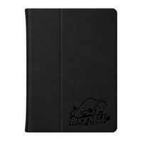 Bucknell University Custom Logo Embossed Leather iPad Air Folio Case Black