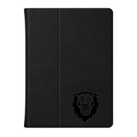 Columbia University Custom Logo Embossed Leather iPad Air Folio Case Black