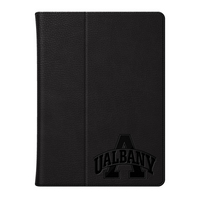 University at Albany Custom Logo Embossed Leather iPad Air Folio Case Black