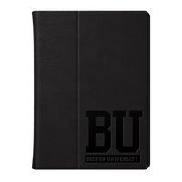 Boston University Custom Logo Embossed Leather iPad Air Folio Case Black