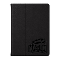 George Mason Univ Custom Logo Embossed Leather iPad Air Folio Case Black