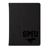 CENTON Southern Methodist Univ Custom Logo Embossed Leather iPad Air Folio Case Black