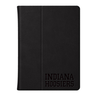 Indiana University Custom Logo Embossed Leather iPad Air Folio Case Black