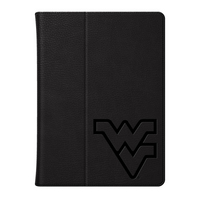 Univ of West Virginia Custom Logo Embossed Leather iPad Air Folio Case Black