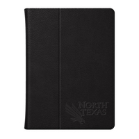 Univ of North Texas Custom Logo Embossed Leather iPad Air Folio Case Black