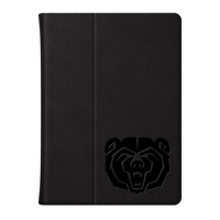 Mississippi State Univ Custom Logo Embossed Leather iPad Air Folio Case Black