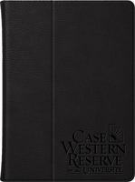 Case Western Reserve University Custom Logo iPad Air Leather Folio Case, Black