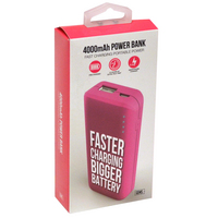GEMS RAPID CHARGE POWER BANK PINK
