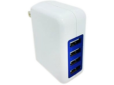PROFESSIONAL CABLE 4 PORT USB WALL CHARGER