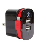 Digital Treasures Dual Output Wall Charger with Lightning Cable