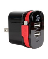 Digital Treasures Dual Output Wall Charger with Micro USB Cable