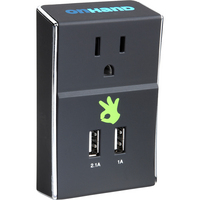OnHand, LLC Wall Outlet with Dual USB ports  Black