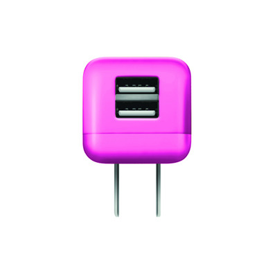 GEMS Dual USB Wall Charger Pink
