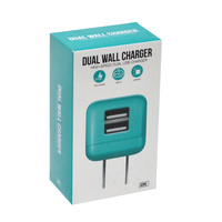 GEMS Dual USB Wall Charger Teal