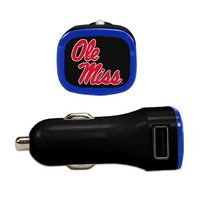 University of Mississippi Custom USB Car Charger