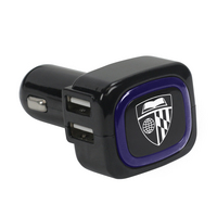 US DIGITAL MEDIA, INC Custom Logo 4 Port USB Car Charger Black