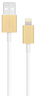 USB Cable with Lightning Connector, 1M Gold