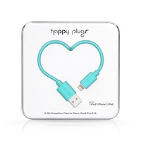 Happy Plugs Lightning to USB Charge & Sync Cable, Turquoise