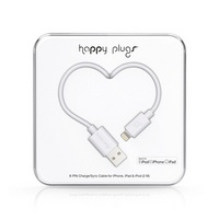 Happy Plugs Lightning to USB Charge & Sync Cable, White