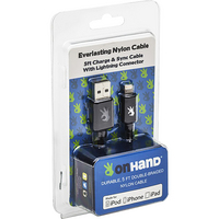 OnHand, LLC Everlasting Nylon Cable USB to Lightning 8Pin 5 Feet Black