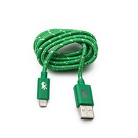 OnHand, LLC Everlasting Nylon Cable USB to Lightning 8Pin 5 Feet Green
