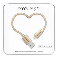 Happy Plugs Lightning USB to USB Charge & Sync Cable, 2m, Champagne