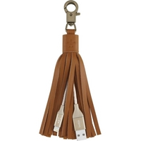 Belkin Mixit Lightning to USB Leather Tassel 6 SyncCharge Cable 2.4A (Brown)