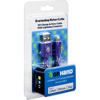 OnHand, LLC Everlasting Nylon Cable USB to Lightning 8Pin 5 Feet, Purple