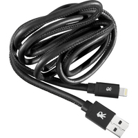 OnHand Black Tip Leather Charge & Sync Cable