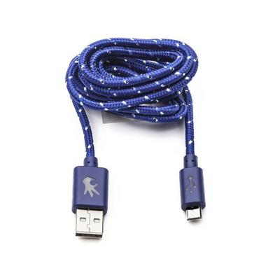 OnHand, LLC Everlasting Nylon Cable USB to MicroUSB 5 Feet, Blue