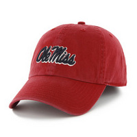 Ole Miss Twin 47 Fitted Franchise Washed Twill Hat