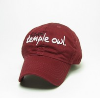 Temple Legacy Toddler Adjustable Washed Twill Hat