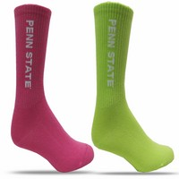 Red Shirt Ribbed Cotton Crew Socks