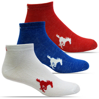SMU Mustangs TopSox 3 Pack Mid Quarter Sock