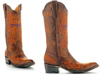 Clemson Game Day Ladies Cowboy Boot