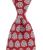 Ohio State Buckeyes Vineyard Vines Silk Tie