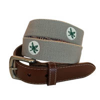Peter Millar Ohio State Canvas Belt