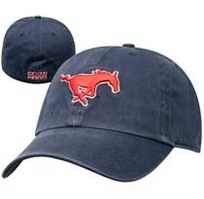 SMU Mustangs Twin 47 Fitted Franchise Washed Twill Hat