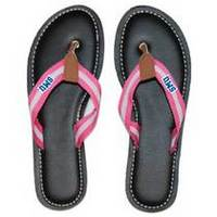 Ladies Prep Canvas Flip Flop