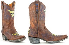 WVU Ladies 10 Inch Leather Cowboy Boot