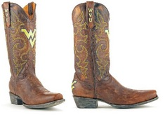 WVU Mens Leather Gameday Boot