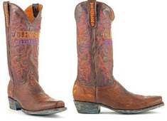 Clemson Mens Leather Gameday Boot