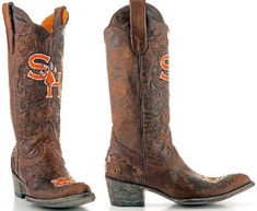 Sam Houston Ladies 13 Inch Leather Cowboy Boot
