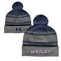 Under Armour Retro Striped Pom Beanie
