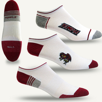 Temple TopSox 3 Pack Mid Quarter Sock