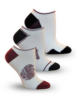 University of Chicago TopSox 3 Pack Flat Knit Low Cut Sock