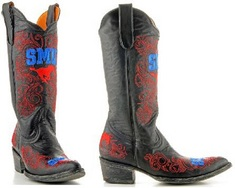 SMU Ladies 13 Inch Leather Cowboy Boot